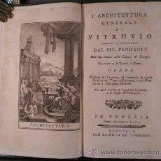 Libros antiguos: VITRUVIO (L'ARCHITETTURA GENERALE, 1794) Y VIGNOLA (GLI ORDINI DI ARCHITETTURA, 1823). Lote 43216007