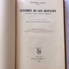 Libros antiguos: LESIONES DE LOS EDIFICIOS SINTOMAS , CAUSAS , EFECTOS , REMEDIOS).. Lote 43928945