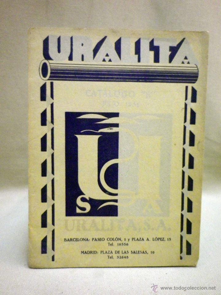 LIBRO, URALITA, 45 PAGINAS, 21 X 16 CM, BARCELONA, 1929 (Libros Antiguos, Raros y Curiosos - Bellas artes, ocio y coleccion - Arquitectura)