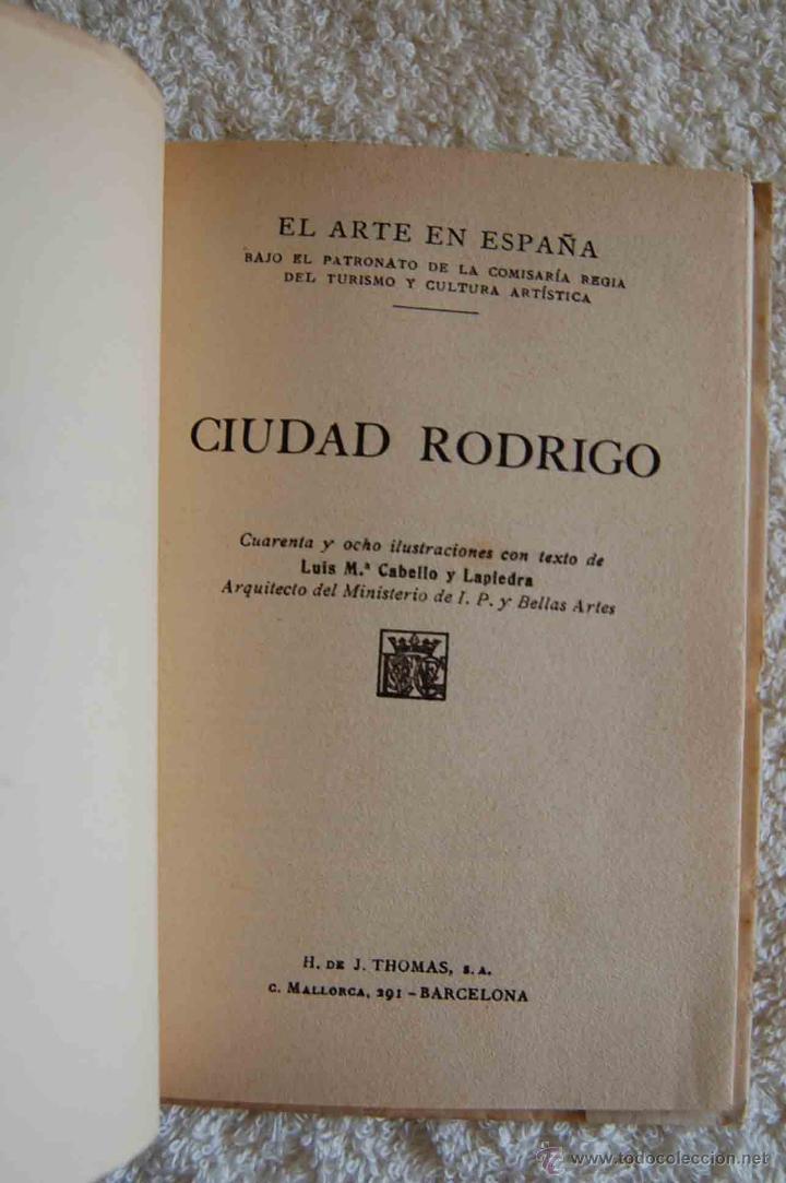 Libros antiguos: CIUDAD RODRIGO. EL ARTE EN ESPAÑA. Nº 13. EDIC. THOMAS. ESPAÑOL.FRANCES. INGLES. 48 ILUSTRACIONES - Foto 3 - 44434927