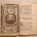 Libros antiguos: DESCRIPCION REAL MONASTERIO SAN LORENZO ESCORIAL, POR ANDRES XIMENEZ, 1764, SIGLO XVIII. Lote 44440234