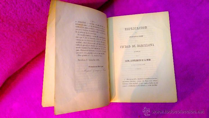 Libros antiguos: EIXAMPLE, MEMORIA DESCRIPTIVA, ANTEPROYECTO DE ENSANCHE, CIUDAD DE BARCELONA, MAPA 1858, MUY RARO - Foto 4 - 47070772