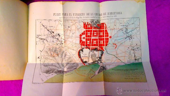 Libros antiguos: EIXAMPLE, MEMORIA DESCRIPTIVA, ANTEPROYECTO DE ENSANCHE, CIUDAD DE BARCELONA, MAPA 1858, MUY RARO - Foto 5 - 47070772