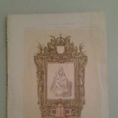 Libros antiguos: 1875 - DIBUJO ARQUITECTONICO ORIGINAL DE ALONSO CANO - ROSELL Y TORRES, I.. Lote 47459465