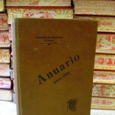 Libros antiguos: ASOCIACIÓN DE ARQUITECTOS DE CATALUÑA . ANUARIO PARA 1899 . . Lote 47490926