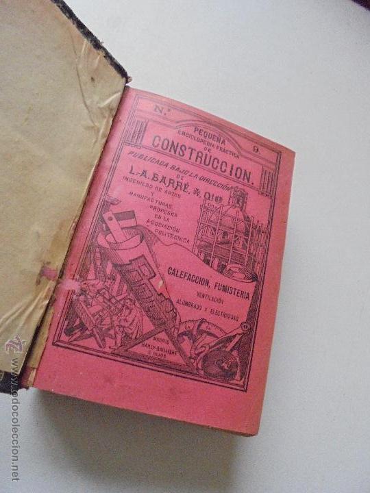 Libros antiguos: Un volumen con 4 tomos( 9, 10, 11, 12) de : Pequeña Enciclopedia práctica de Construcción-S/F - Foto 3 - 47546456