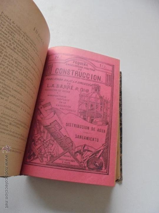 Libros antiguos: Un volumen con 4 tomos( 9, 10, 11, 12) de : Pequeña Enciclopedia práctica de Construcción-S/F - Foto 4 - 47546456
