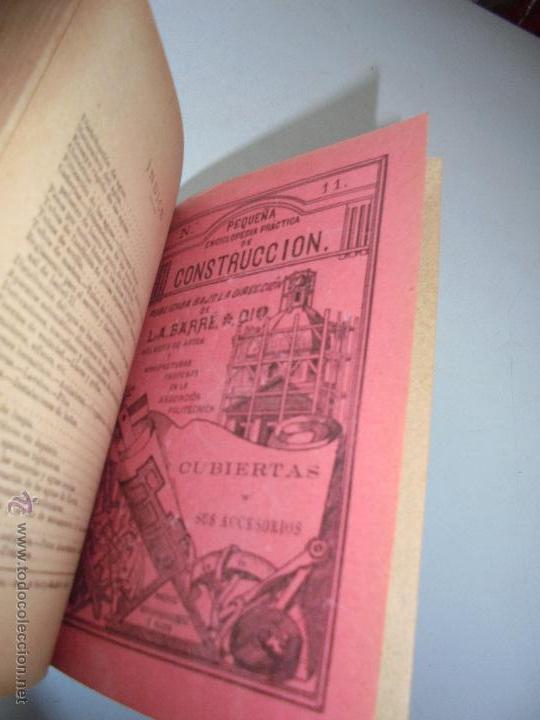 Libros antiguos: Un volumen con 4 tomos( 9, 10, 11, 12) de : Pequeña Enciclopedia práctica de Construcción-S/F - Foto 5 - 47546456