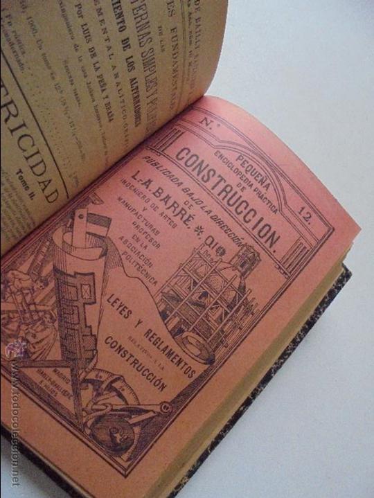Libros antiguos: Un volumen con 4 tomos( 9, 10, 11, 12) de : Pequeña Enciclopedia práctica de Construcción-S/F - Foto 6 - 47546456
