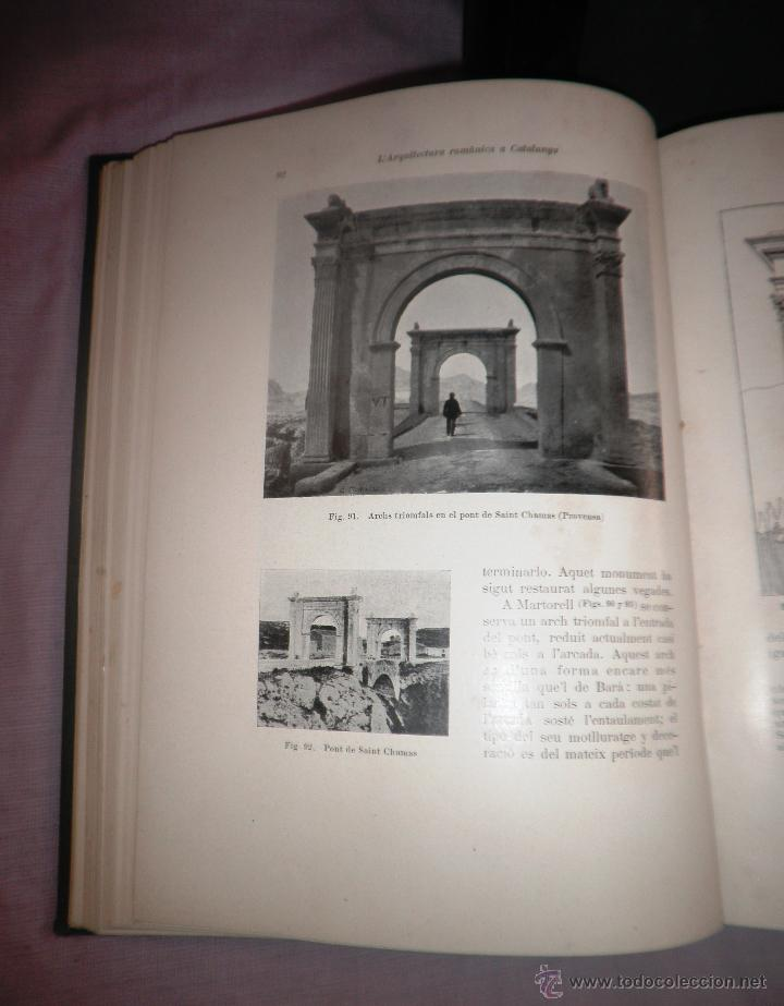 Libros antiguos: L´ARQUITECTURA ROMANICA A CATALUNYA - 1ª EDICIÓ ANY 1909 - J.PUIG Y CADAFALCH - MUY ILUSTRADOS. - Foto 5 - 49016680