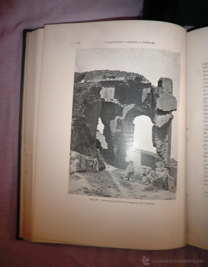 Libros antiguos: L´ARQUITECTURA ROMANICA A CATALUNYA - 1ª EDICIÓ ANY 1909 - J.PUIG Y CADAFALCH - MUY ILUSTRADOS. - Foto 8 - 49016680