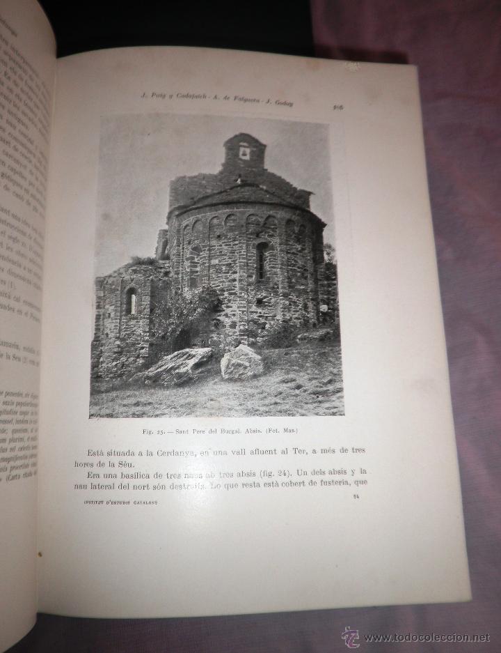 Libros antiguos: L´ARQUITECTURA ROMANICA A CATALUNYA - 1ª EDICIÓ ANY 1909 - J.PUIG Y CADAFALCH - MUY ILUSTRADOS. - Foto 10 - 49016680