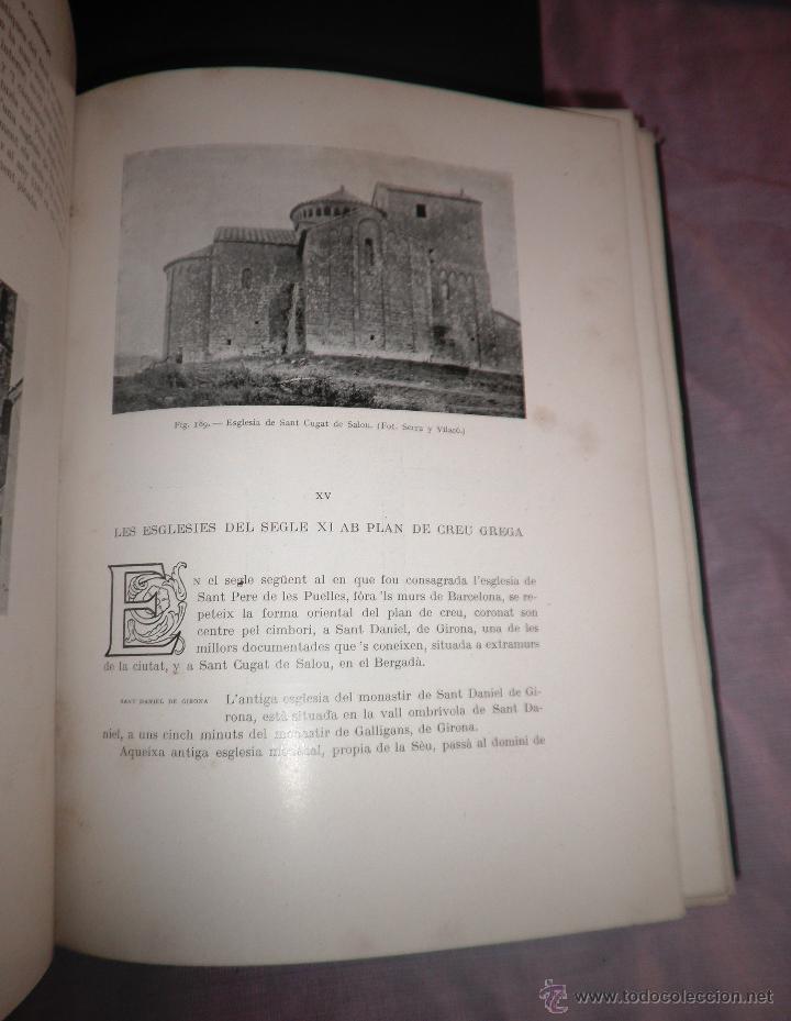 Libros antiguos: L´ARQUITECTURA ROMANICA A CATALUNYA - 1ª EDICIÓ ANY 1909 - J.PUIG Y CADAFALCH - MUY ILUSTRADOS. - Foto 11 - 49016680