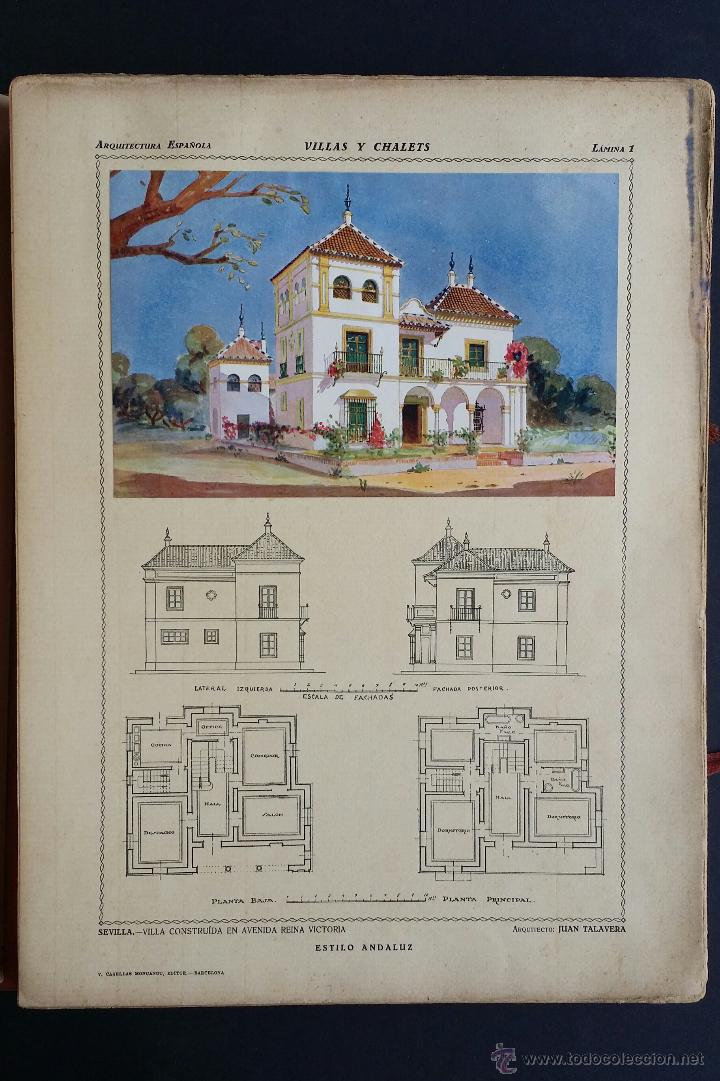 Libros antiguos: Villas y chalets, Víctor de Falgás. 1920. - Foto 6 - 49030474