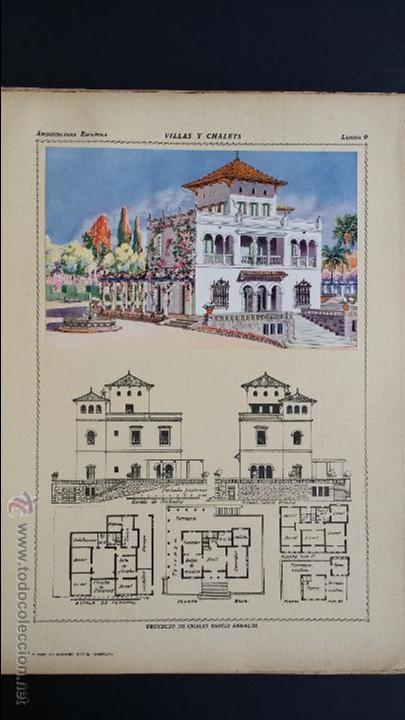 Libros antiguos: Villas y chalets, Víctor de Falgás. 1920. - Foto 11 - 49030474