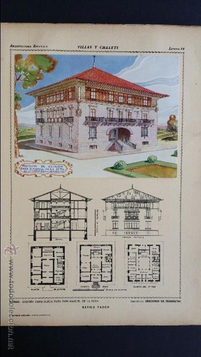 Libros antiguos: Villas y chalets, Víctor de Falgás. 1920. - Foto 12 - 49030474