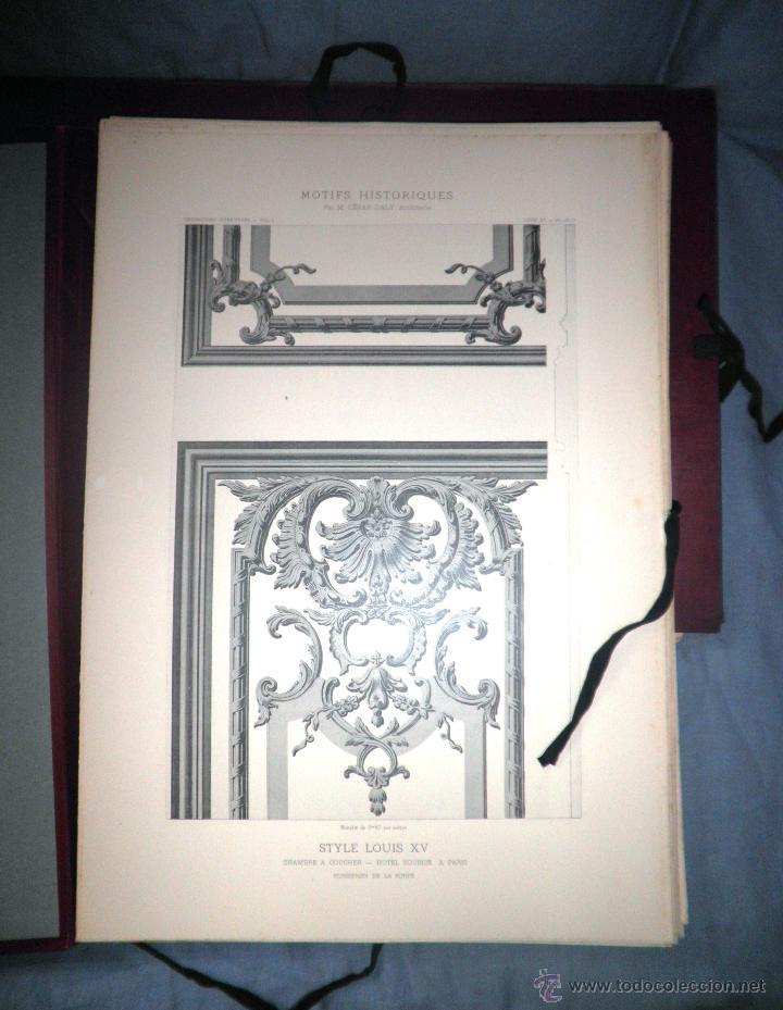 Libros antiguos: MOTIVOS HISTORICOS DE ARQUITECTURA Y ESCULTURA - AÑO 1912 - C.DALY - CARPETAS CON LAMINAS. - Foto 3 - 49687035