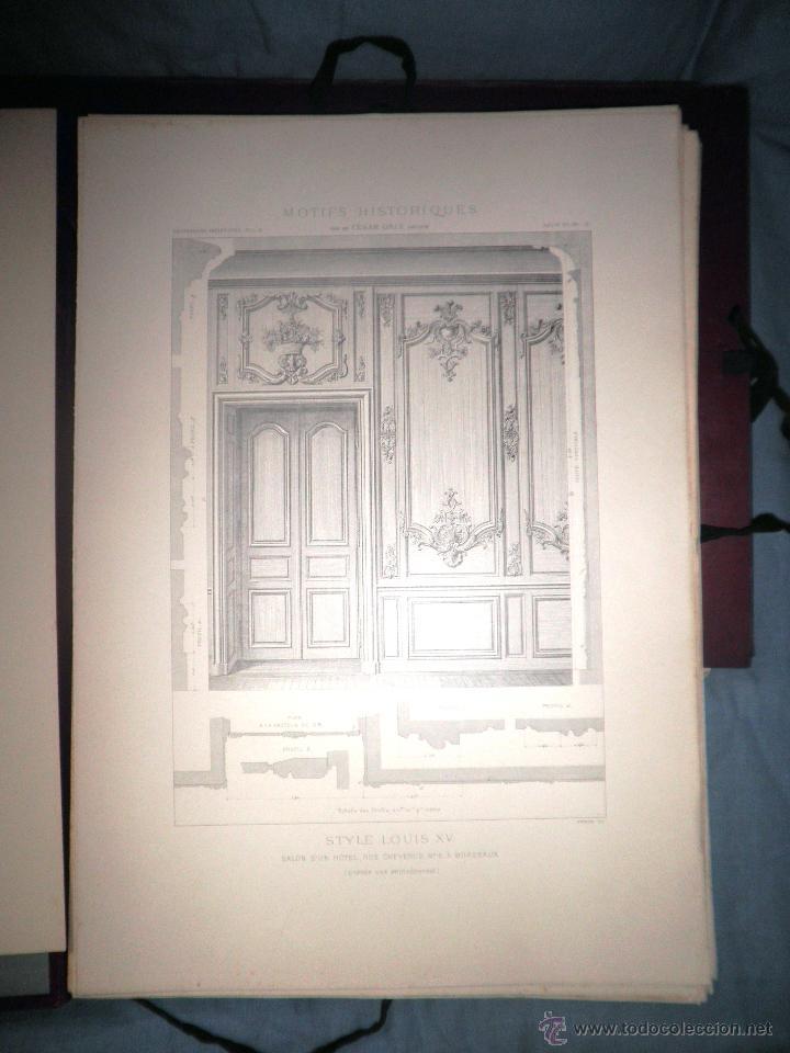 Libros antiguos: MOTIVOS HISTORICOS DE ARQUITECTURA Y ESCULTURA - AÑO 1912 - C.DALY - CARPETAS CON LAMINAS. - Foto 4 - 49687035