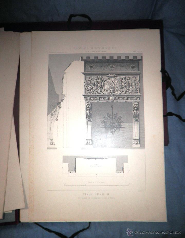Libros antiguos: MOTIVOS HISTORICOS DE ARQUITECTURA Y ESCULTURA - AÑO 1912 - C.DALY - CARPETAS CON LAMINAS. - Foto 6 - 49687035