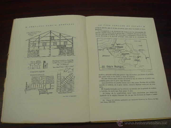 Libros antiguos: LA CASA POPULAR EN ESPAÑA. 1930. 1ª Edicion. Fernando Garcia Mercadal - Foto 6 - 32111767