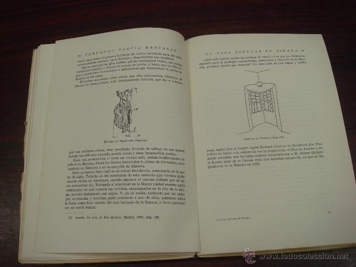 Libros antiguos: LA CASA POPULAR EN ESPAÑA. 1930. 1ª Edicion. Fernando Garcia Mercadal - Foto 7 - 32111767