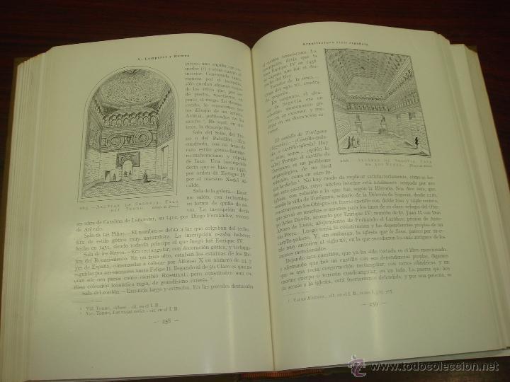 Libros antiguos: ARQUITECTURA CIVIL ESPAÑOLA DE LOS SIGLOS I AL XVIII. 1922. 2 TOMOS. VICENTE LAMPEREZ Y ROMEA - Foto 6 - 32169008