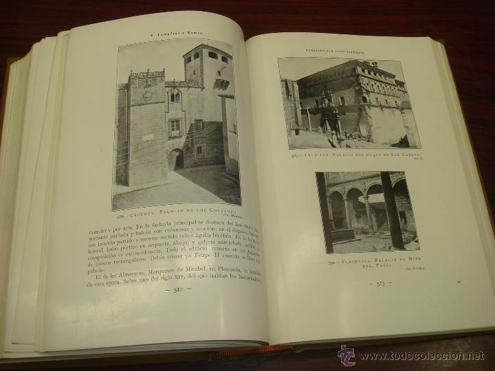 Libros antiguos: ARQUITECTURA CIVIL ESPAÑOLA DE LOS SIGLOS I AL XVIII. 1922. 2 TOMOS. VICENTE LAMPEREZ Y ROMEA - Foto 8 - 32169008
