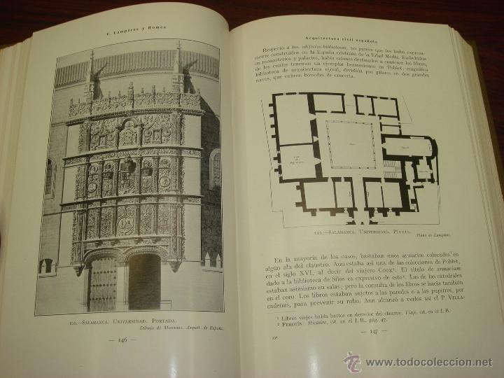 Libros antiguos: ARQUITECTURA CIVIL ESPAÑOLA DE LOS SIGLOS I AL XVIII. 1922. 2 TOMOS. VICENTE LAMPEREZ Y ROMEA - Foto 16 - 32169008