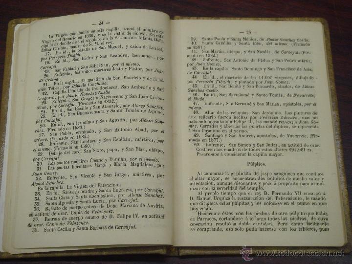 Libros antiguos: Descripción de la gran Basílica del Escorial 1868 Antonio Rotondo - Foto 5 - 32209056