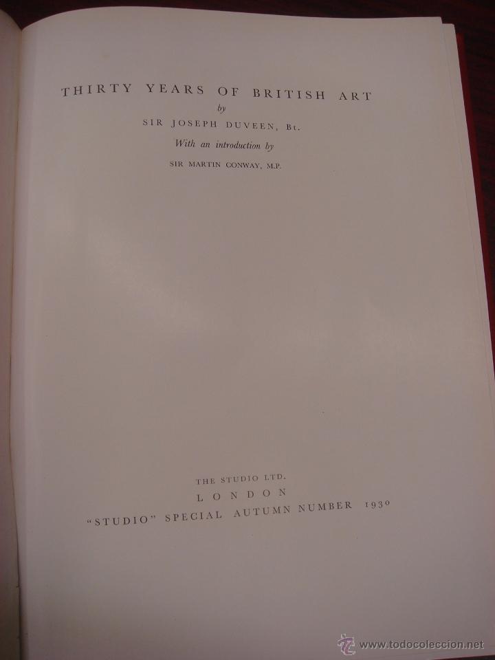 Libros antiguos: THIRTY YEARS OF BRITISH ART. 1930. - Foto 5 - 32209580