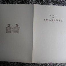 Libros antiguos: 1928 LOS PAZOS GALLEGOS MARQUES DE QUINTANAR PAZO DE AMARANTE. Lote 50132300