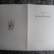 Livres anciens: 1928 LOS PAZOS GALLEGOS MARQUES DE QUINTANAR PAZO DE RAMIRANES. Lote 50137788