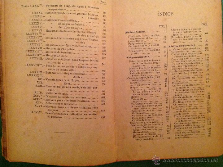 Libros antiguos: Manual del ingeniero G. Colombo 1917 Madrid - Foto 5 - 50058951