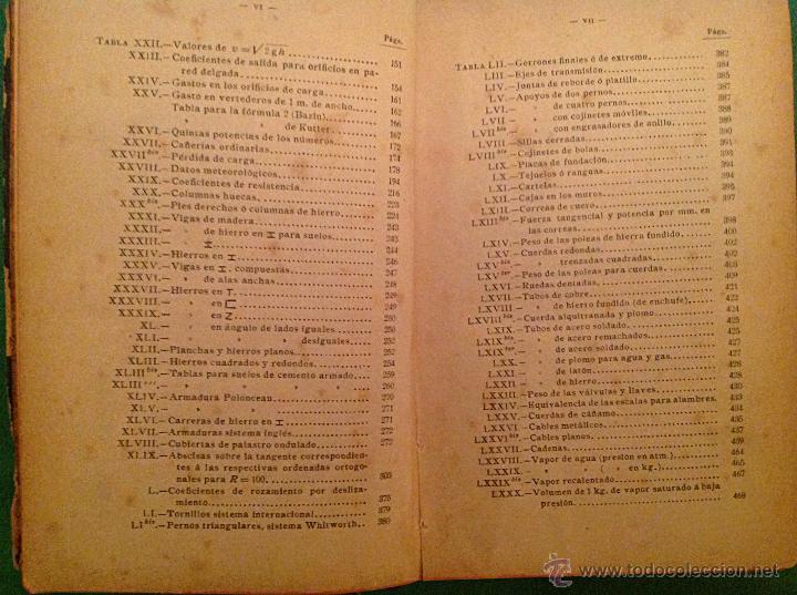 Libros antiguos: Manual del ingeniero G. Colombo 1917 Madrid - Foto 6 - 50058951