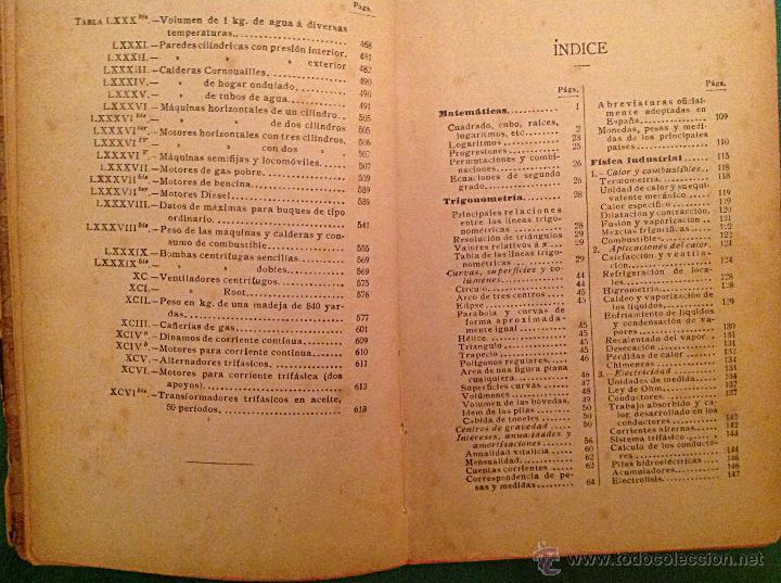 Libros antiguos: Manual del ingeniero G. Colombo 1917 Madrid - Foto 7 - 50058951