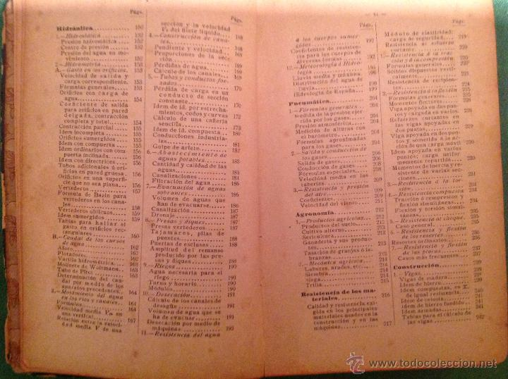 Libros antiguos: Manual del ingeniero G. Colombo 1917 Madrid - Foto 8 - 50058951