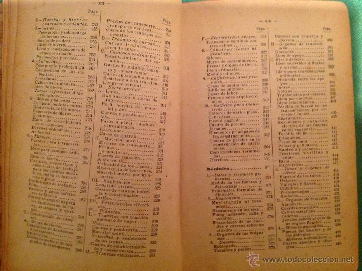 Libros antiguos: Manual del ingeniero G. Colombo 1917 Madrid - Foto 10 - 50058951