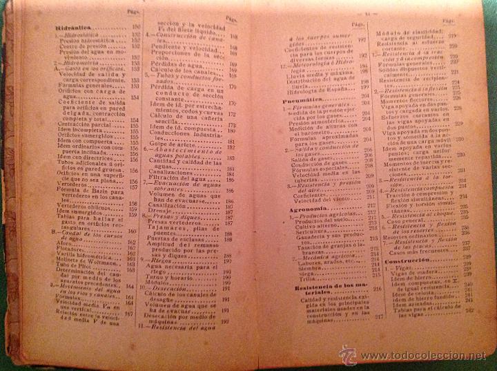 Libros antiguos: Manual del ingeniero G. Colombo 1917 Madrid - Foto 11 - 50058951