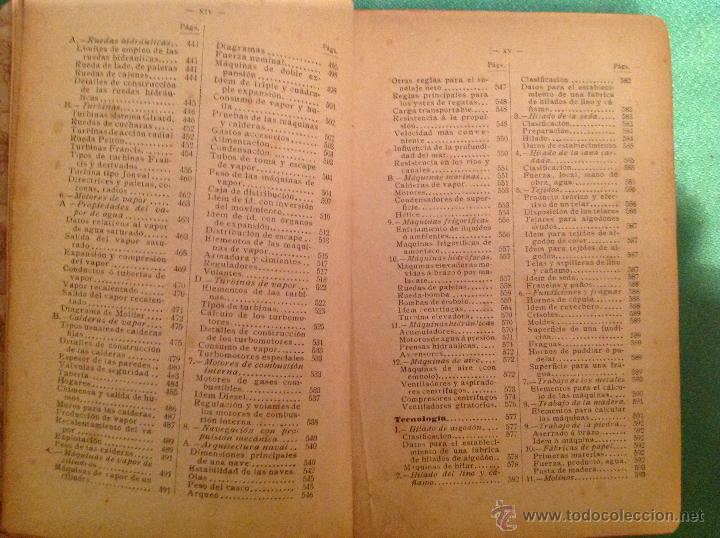 Libros antiguos: Manual del ingeniero G. Colombo 1917 Madrid - Foto 12 - 50058951