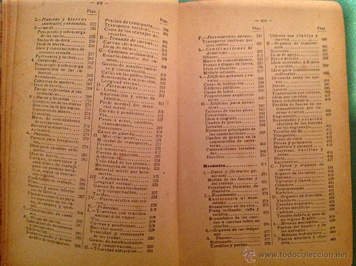 Libros antiguos: Manual del ingeniero G. Colombo 1917 Madrid - Foto 13 - 50058951