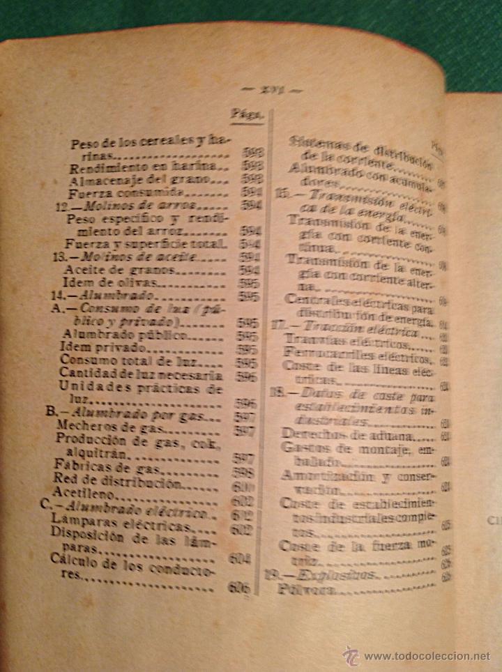 Libros antiguos: Manual del ingeniero G. Colombo 1917 Madrid - Foto 14 - 50058951