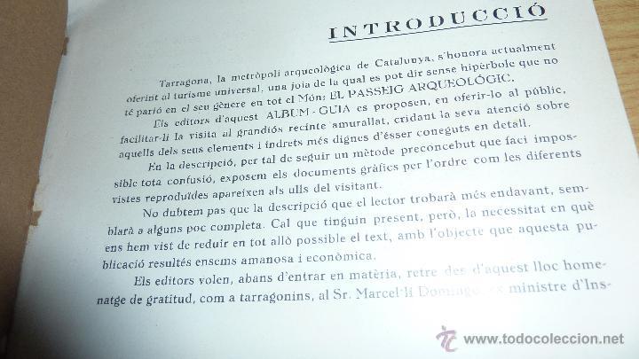 Libros antiguos: libro passeig arqueologic tarragona arqueologia . imp torres i virgili fotos , tarraco 1935 - Foto 2 - 51652972