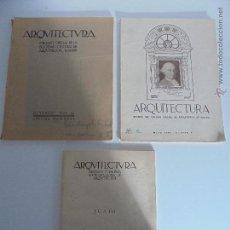 Libros antiguos: ARQUITECTURA ORGANO OFICIAL DE LA SOCIEDAD CENTRAL DE ARQUITECTOS DE MADRID.VER FOGRAFIAS. 3 REVISTA. Lote 51690313