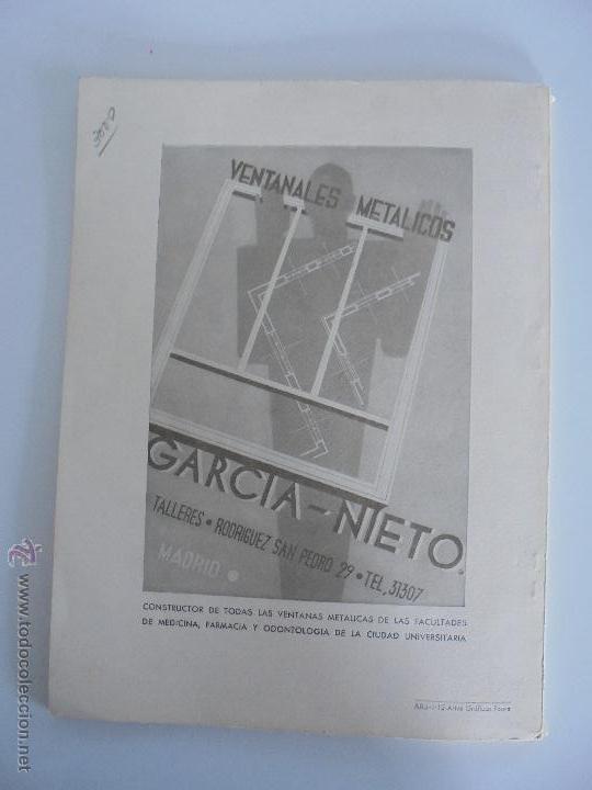 Libros antiguos: ARQUITECTURA ORGANO OFICIAL DE LA SOCIEDAD CENTRAL DE ARQUITECTOS DE MADRID.VER FOGRAFIAS. 3 REVISTA - Foto 20 - 51690313