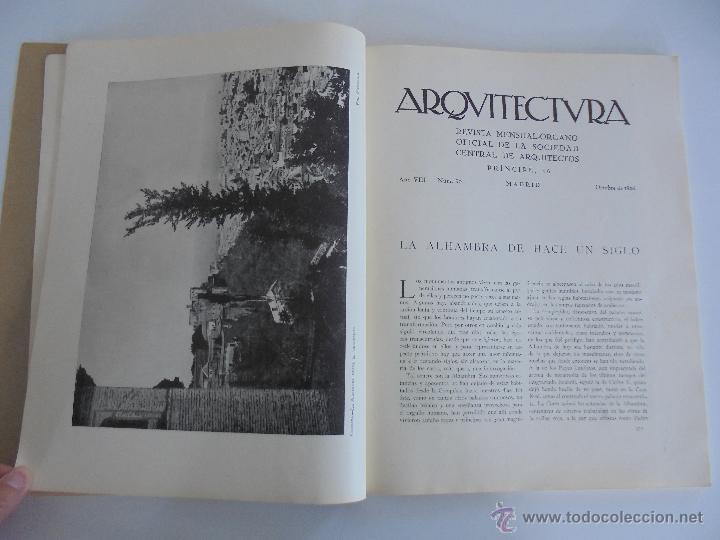 Libros antiguos: ARQUITECTURA ORGANO OFICIAL DE LA SOCIEDAD CENTRAL DE ARQUITECTOS DE MADRID.VER FOGRAFIAS. 3 REVISTA - Foto 26 - 51690313