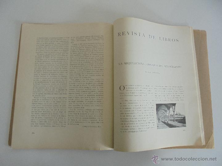 Libros antiguos: ARQUITECTURA ORGANO OFICIAL DE LA SOCIEDAD CENTRAL DE ARQUITECTOS DE MADRID.VER FOGRAFIAS. 3 REVISTA - Foto 35 - 51690313