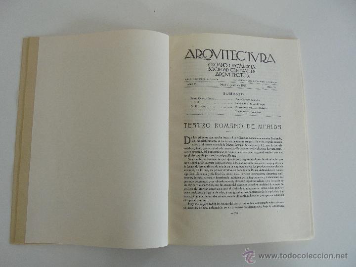 Libros antiguos: ARQUITECTURA ORGANO OFICIAL DE LA SOCIEDAD CENTRAL DE ARQUITECTOS DE MADRID.VER FOGRAFIAS. 3 REVISTA - Foto 39 - 51690313