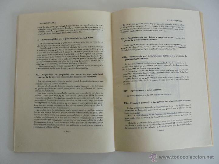 Libros antiguos: ARQUITECTURA ORGANO OFICIAL DE LA SOCIEDAD CENTRAL DE ARQUITECTOS DE MADRID.VER FOGRAFIAS. 3 REVISTA - Foto 49 - 51690313