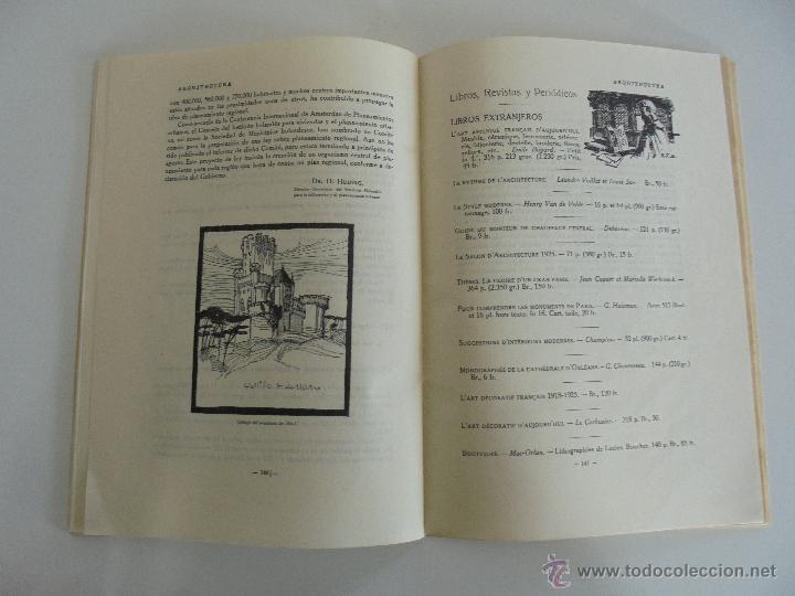 Libros antiguos: ARQUITECTURA ORGANO OFICIAL DE LA SOCIEDAD CENTRAL DE ARQUITECTOS DE MADRID.VER FOGRAFIAS. 3 REVISTA - Foto 50 - 51690313
