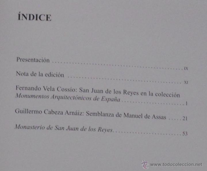 Libros antiguos: monasterio san juan de los reyes, monumentos arquitectonicos de españa - Foto 3 - 52820860